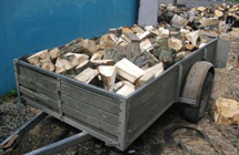 A trailer of logs from Lothian Logs